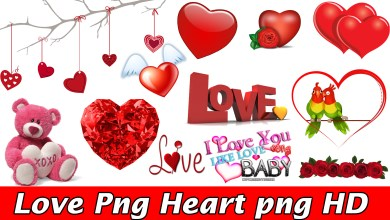Photo of Love Png and Heart png HD Collection For Picsart and photoshop