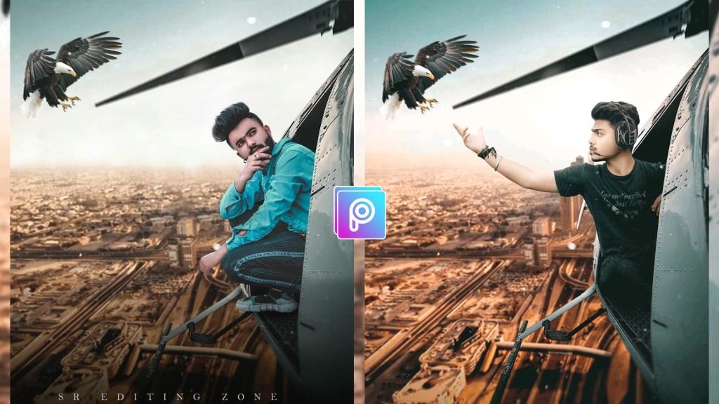 PicsArt helicopter manipulation photo editing tutorial | Best PicsArt Editing