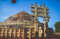 Sanchi Stupa, sree is travelling