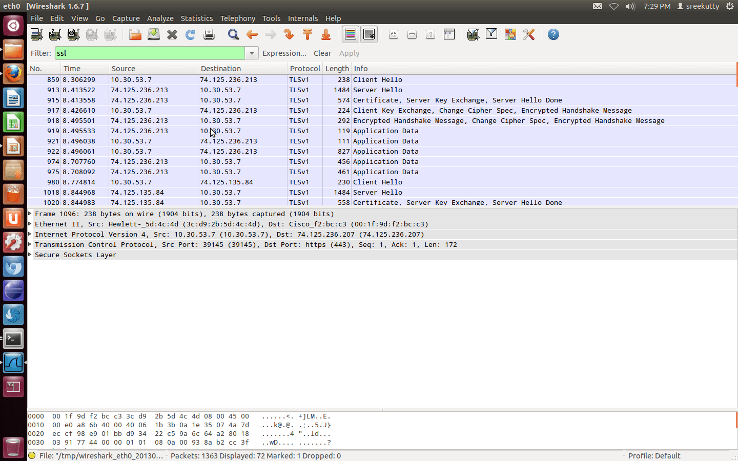 Capture the ssl packet using wireshark  CYBER