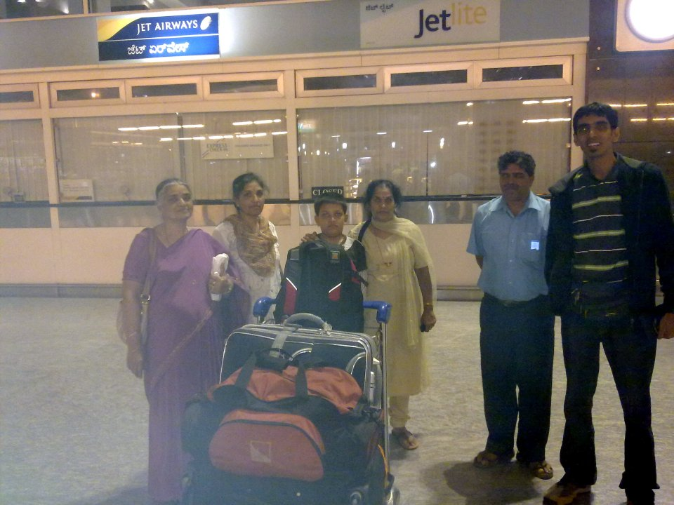 Departure at Bangalore