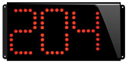 Afficheur numerique electroluminescent