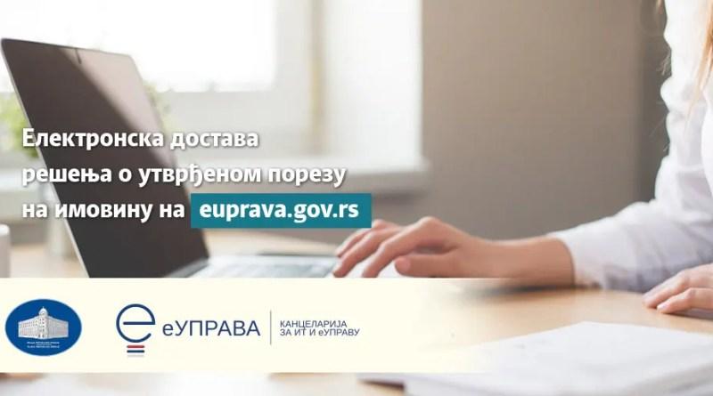 Од данас грађани Сремских Карловаца Решења о утврђеном порезу на имовину добијају у електронско сандуче на Порталу еУправа