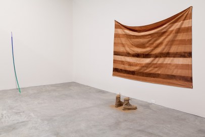 Installation View (Untitled (Flag) right), 2012, Sreshta Rit Premnath