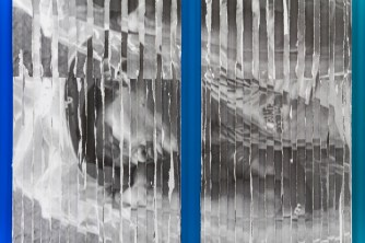 """Sleep/Fall"" (Detail), Photocopies on Corrugated Plastic"