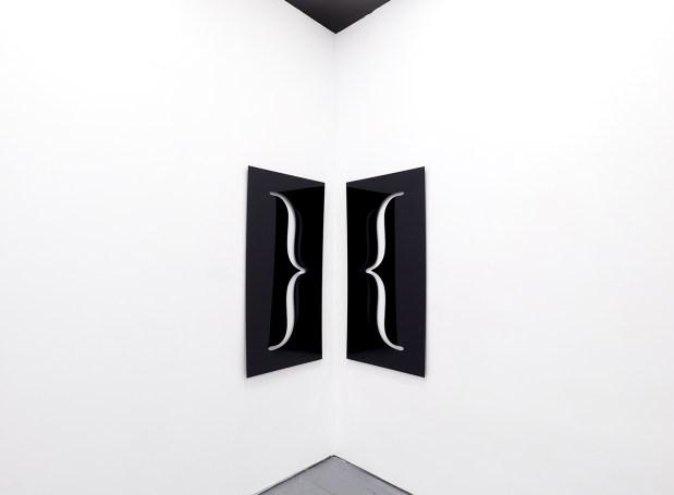 """Corner 2018 Plexiglass 24"""" X 48"""" (diptych)"""