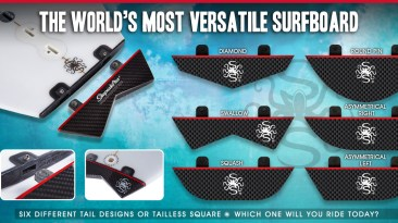 Shape Shifter Surfboards Six Tails One Board