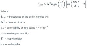 Coil Inductance Calculation Formula