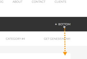 How to set up a 'Go To Bottom' link that scrolls smoothly in WordPress