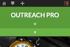 How to make Header menu mobile responsive in Outreach Pro