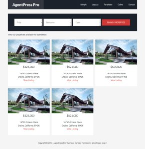Page Templates for displaying 'For Sale' and 'For Rent' Listings in AgentPress Pro