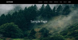 Full Screen Featured Image Background Parallax section on Posts and Pages in Altitude Pro