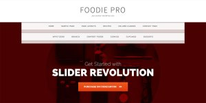 Floating Navigation on top of Slider in Foodie Pro