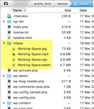 video-files-tree
