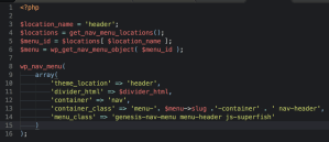 How to add menu-slug-container class when setting a custom one in wp_nav_menu's container_class
