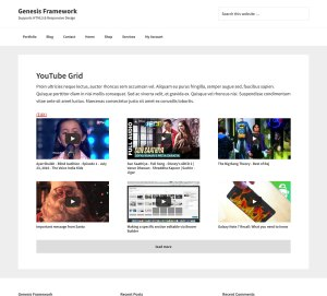 YouTube Videos Grid in Genesis using ACF Pro's Repeater, Infinite Scroll and Featherlight
