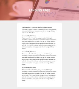 Full width featured image header with page title overlay on landing pages in Genesis