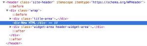 How to insert HTML between Title Area and Header Widget Area in Genesis