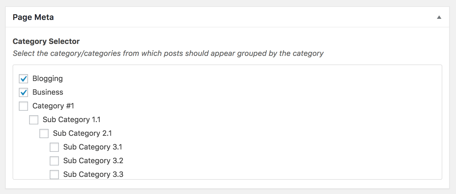 Custom Page Template to show posts grouped by selected