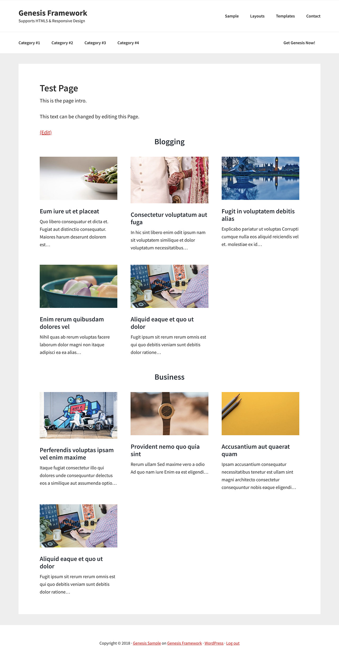 Custom Page Template to show posts grouped by selected categories ...