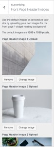 Front Page 1 background image slider in Showcase Pro using Backstretch