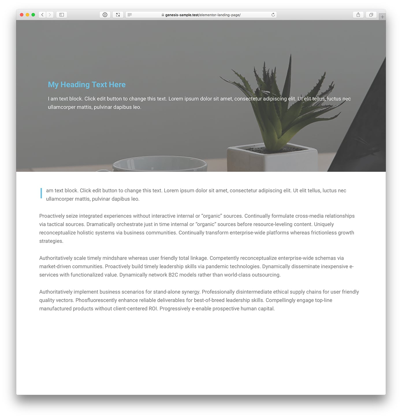 Full-width Landing Pages without Header and Footer for Beaver