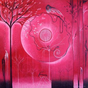 painting of forest creatures