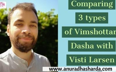 Comparing 3 types of Vimshottari Dashas (2/4)