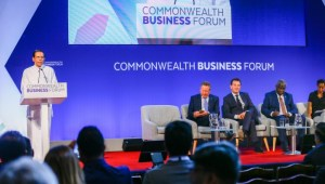 """'Our """"Blue-Green"""" economic plan ensures resource utilization in a sustainable manner' – President at Commonwealth Business Forum"""