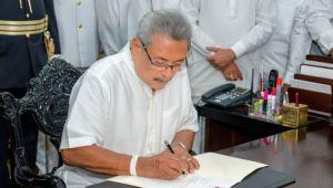 President Rajapaksa assumes duties.