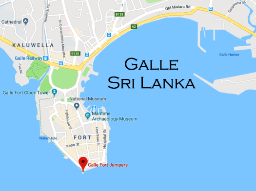 Galle Fort Jumpers Sri Lanka Map