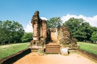 Sacred Quadrangle Vatadage Polonnaruwa Sri Lanka 40