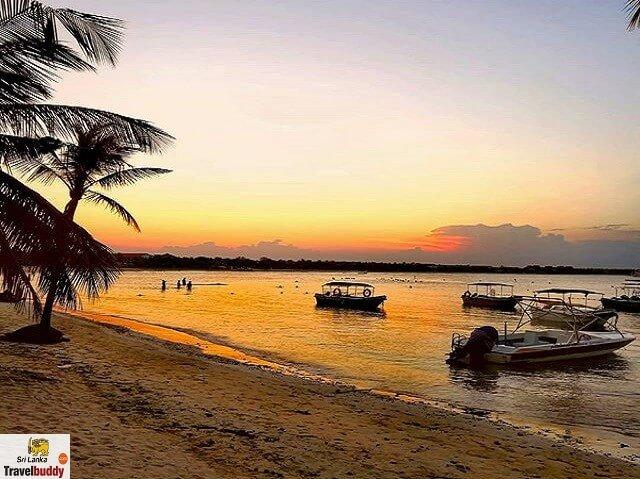 Sunset at Pasikuda Beach