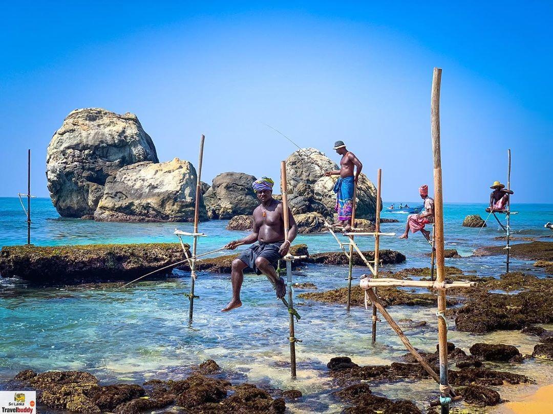 Koggala stick fishing