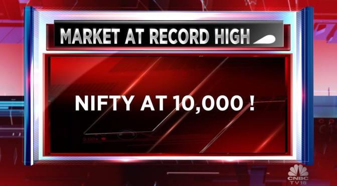 Nifty Breaks 10,000 Mark