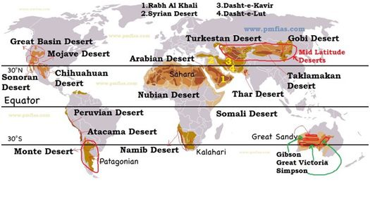 world deserts distribution