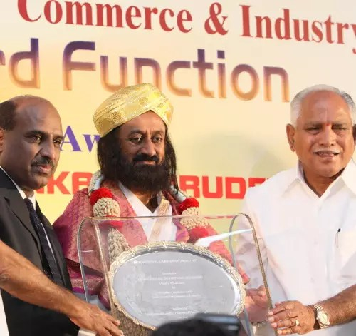 Sri Sri Honored for Socio-Economic Contributions
