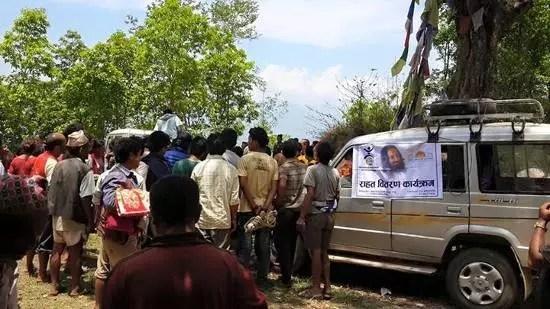 food and tent distrubution at Sindupalchowk, Nepal