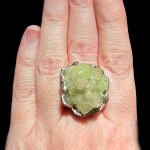 raw vesuvianite silver ring susan ritter