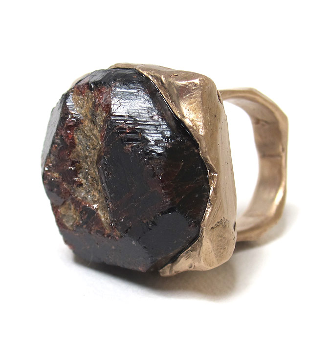 raw garnet ring susan ritter