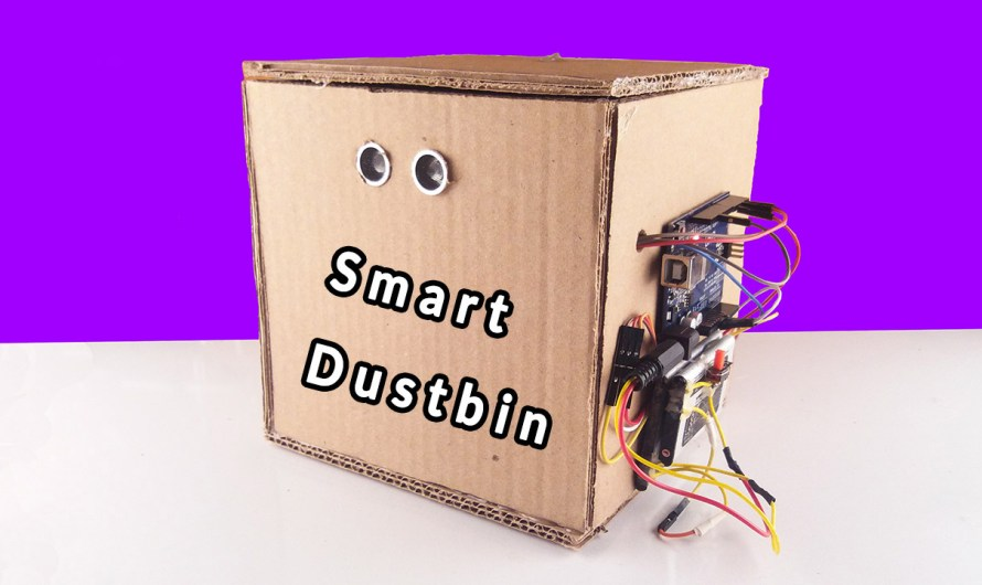 How to make a smart dustbin Arduino | Low cost smart dustbin Arduino