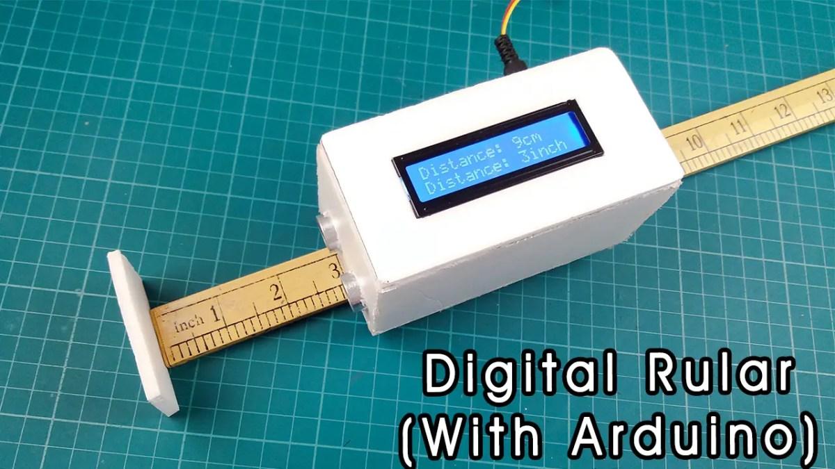 how to make a diy digital rular using arduino