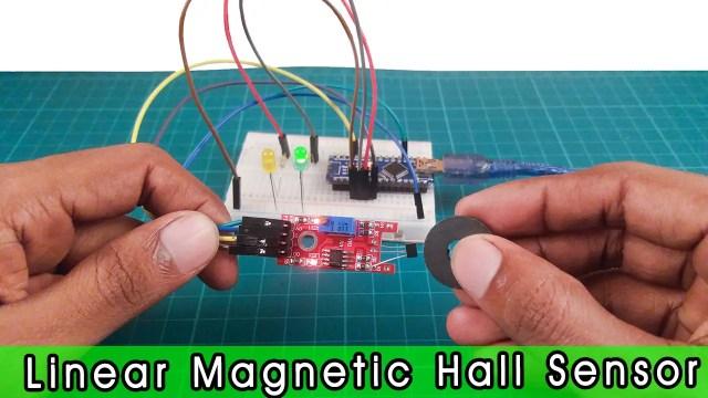 Linear hall effect sensor module with Arduino