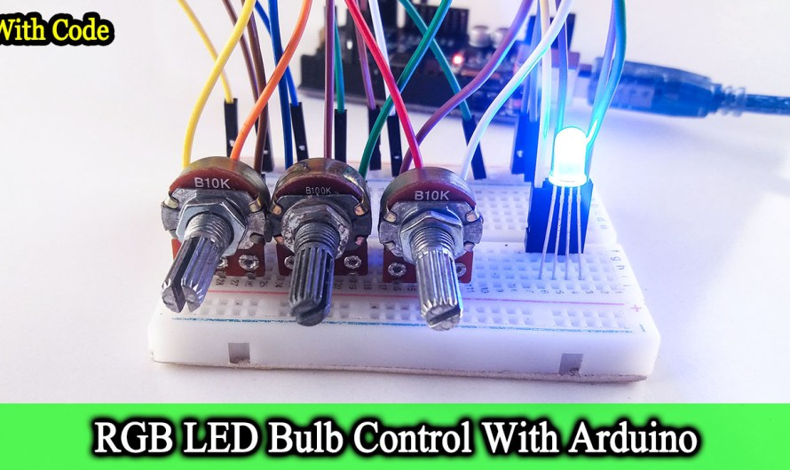 RGB LED bulb control | Step by step instructions
