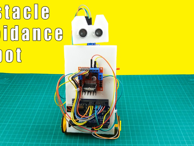 How to make an obstacle avoiding robot using arduino & ultrasonic sensor