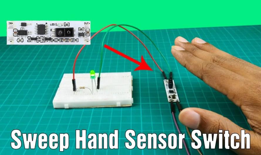 How to work hand sweep sensor switch module   Hand sweep wave sensor