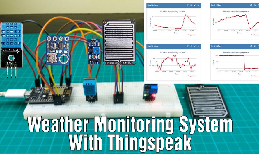 How to make an IoT based weather monitoring system using Nodemcu and Thingspeak