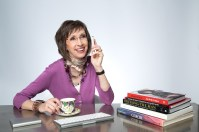 Personal Branding Photography of an Image Consultant on phone with client