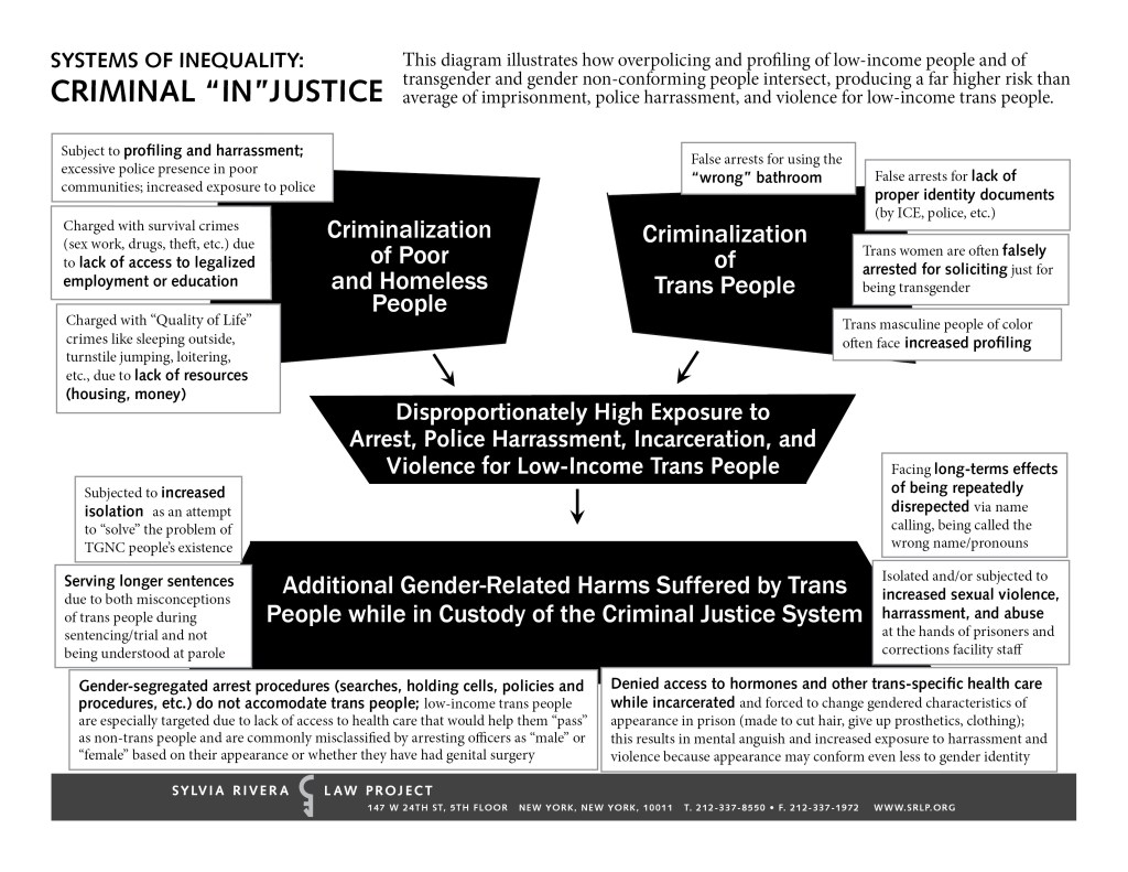 Flow Chart Disproportionate Incarceration Srlp Sylvia Rivera Law