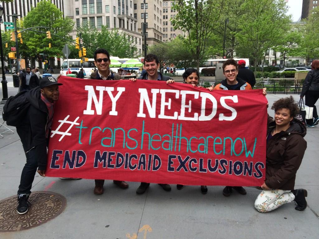 SRLP demands trans healthcare now!